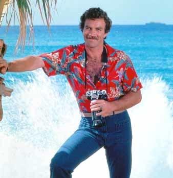 El verano y las camisas hawaianas, el outsider del verano, Tom Selleck
