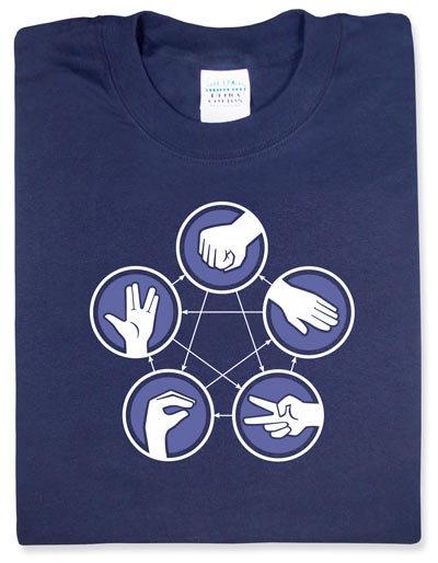 Camiseta Rock, Paper, Scissors, Lizard, Spock