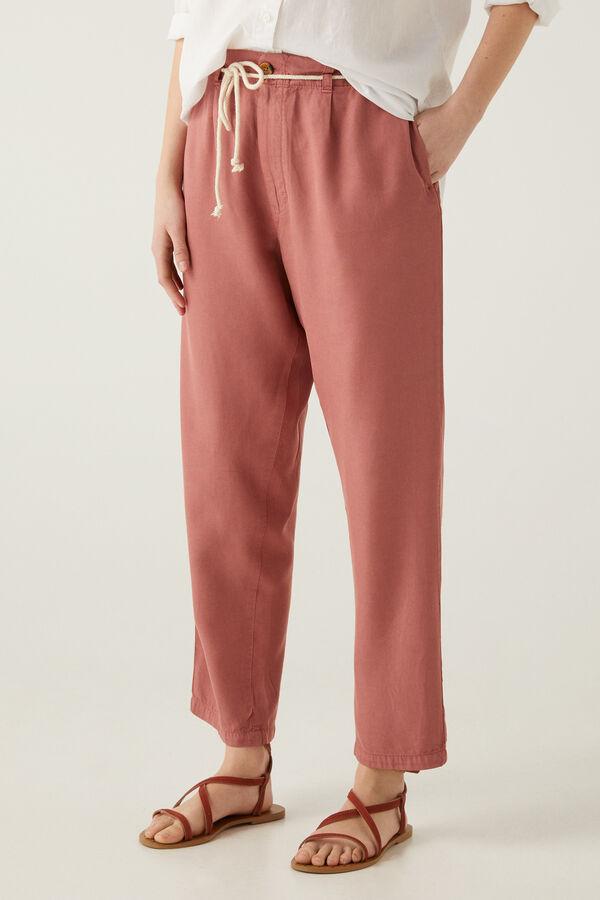 Pantalones tipo baggy en color teja