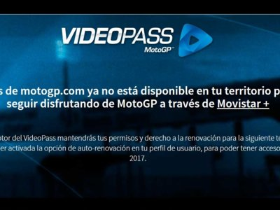 Dorna retira el Videopass en España.... otra vez