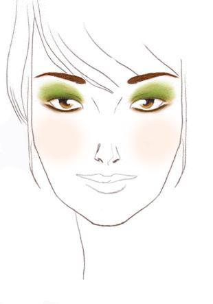 Marrones y verdes para ojos