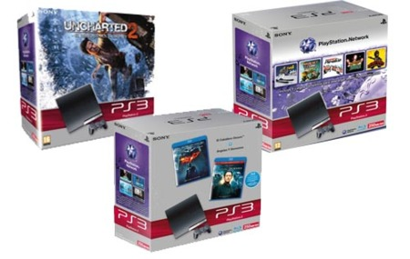 Packs de PS3 slim con disco duro de 250 GB