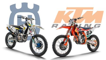 Porno para crosseros: KTM 450 SX-F Factory Edition y Husqvarna FC 450 Rockstar Edition