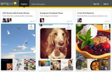 Springpad 3.0 con nuevo diseño en la versión web y para móviles