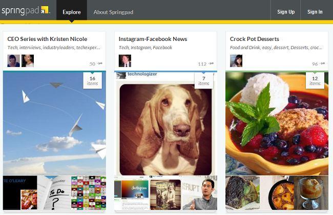 Springpad 3.0 con nuevo diseño y la posibilidad de crear notas públicas
