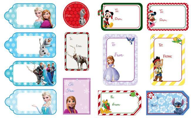 Etiquetas de navidad de disney imprimibles para los regalos - Etiquetas para regalos para imprimir ...