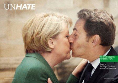 Merkel Sarkozy Benetton