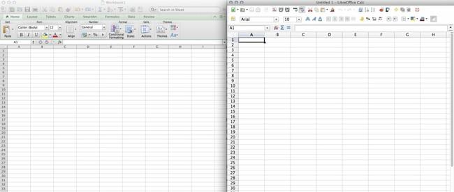 Excel Libreoffice Calc