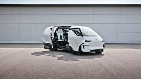 Porsche Vision Renndienst: una furgoneta eléctrica con un sorprendente interior que podría dar pistas de los Porsche del futuro