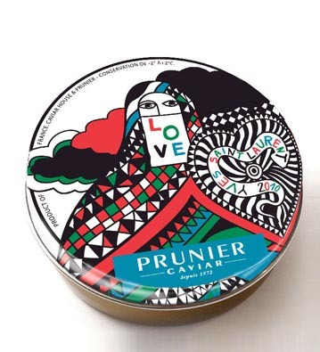 Caviar Prunier en la lata Yves Saint Laurent 2010 LOVE, un concepto gourmet