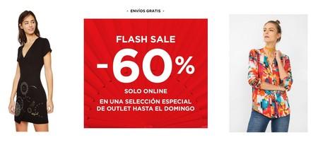 Flash sale en Desigual: 60% de descuento en 77 artículos sólo este fin de semana. Envíos gratis