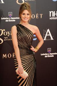 Alfombra roja de los premios Goya 2013: Amaia Salamanca apuesta por un moño italiano