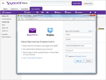 Yahoo! integra Dropbox a su plataforma de correo electrónico