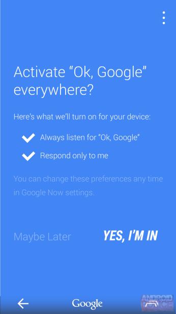 Ajustes Google Now