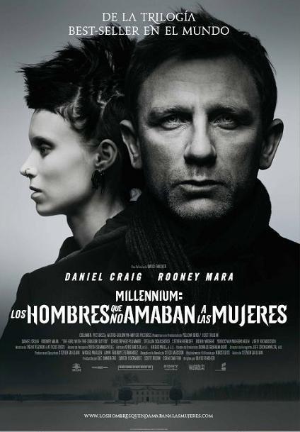 'Millennium: Los hombres que no amaban a las mujeres', cartel español final de la nueva película de David Fincher