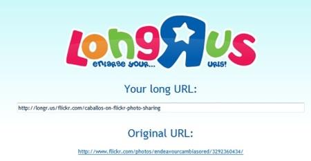 LongR.us hace que las URLs sean más descriptivas y largas