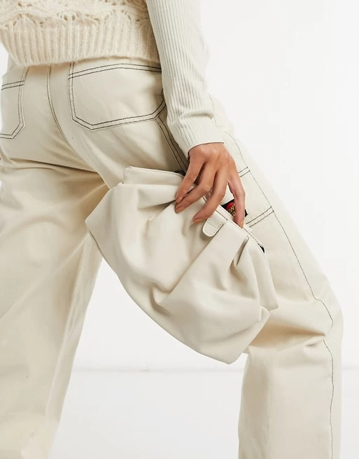 Bolso clutch blanco  de Claudia Canova