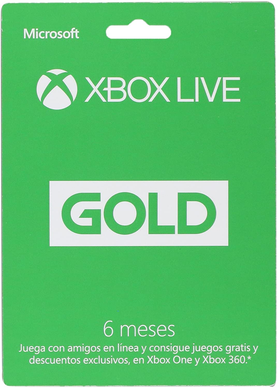 Xbox Live Gold - Membresía 6 de meses