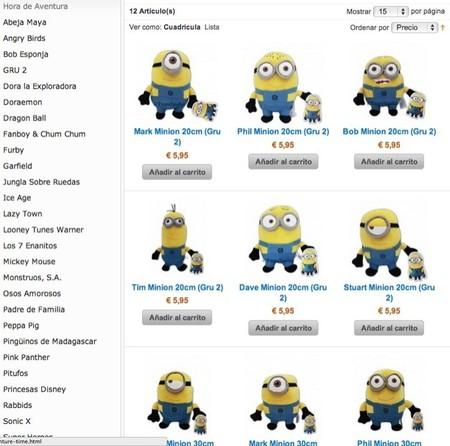 Ya están disponibles los Minions en la tienda en Internet de Tu Peluche