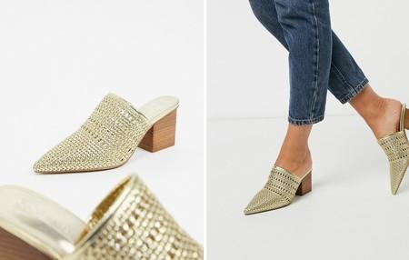 Zapatos Dorados Verano