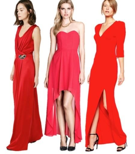 maxi vestidos en rojo 2014