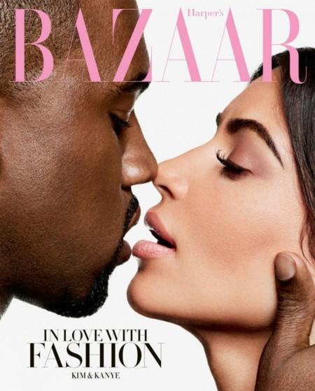 Kim Kardashian y Kanye West deben estar hiperventilando... Portada del mundo mundial en Harper's Bazaar