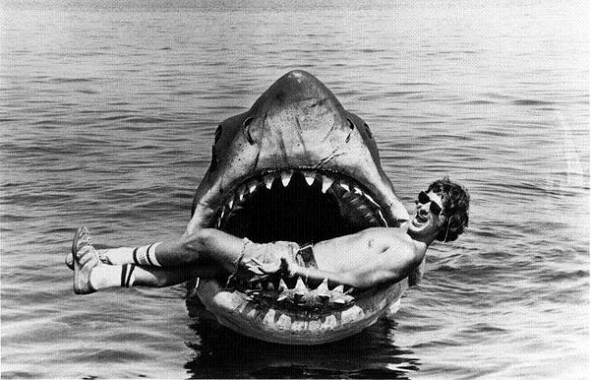 Steven Spielberg en el rodaje de 'Tiburón'