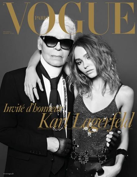 Vogue Paris despide el año por la puerta grande, con Karl Lagerfeld y Lily-Rose Depp