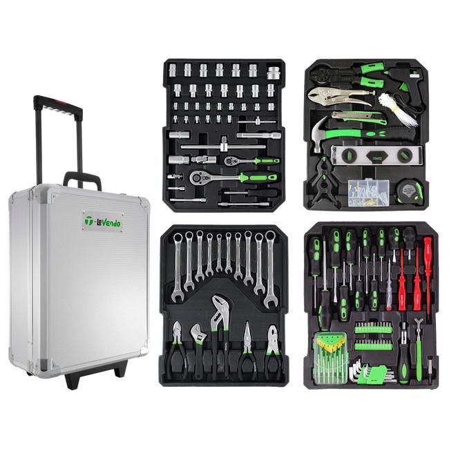 Por sólo 59,95 euros podemos hacernos con este este maletín de herramientas de 399 piezas en eBay. Envío gratis