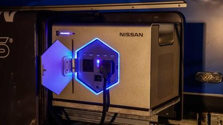 Así es Nissan Roam, una fuente de energía basada en baterías recicladas del Leaf pensada para alimentar remolques para acampar