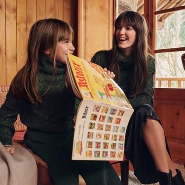 Estas Navidades comparte armario con tu hija con la nueva colección Mini me de Mango