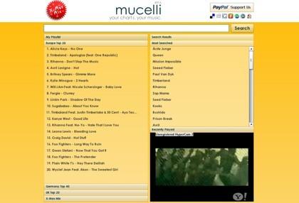 Mucelli, buscador de temas musicales a través de los vídeos de YouTube