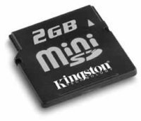 Tarjetas MiniSD y MMCmobile de 2 GB, esta vez de Kingston