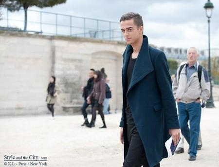 Sexy Stylish Man At Paris Fashion Week