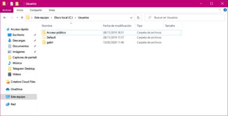 Usuarios Windows 10