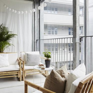 Bambú y césped artificial para tu terraza urbana, porque ahora toca disfrutarla en invierno