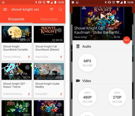 app para descargar videos de youtube en tablet android