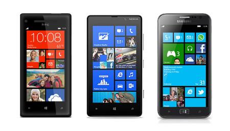 HTC 8X, Lumia 820 y Samsung ATIV S