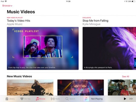 La sección de vídeos musicales ya está disponible en Apple Music