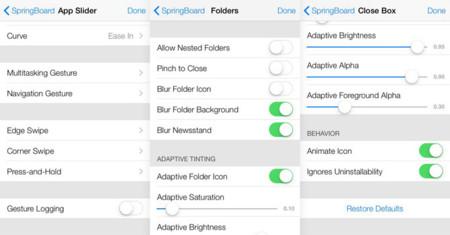 Ajustes ocultos de iOS 7