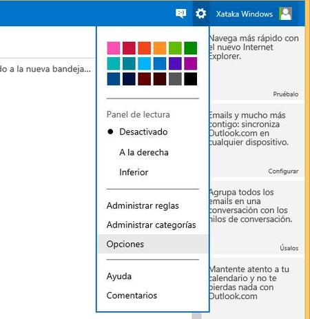 Configuración outlook.com