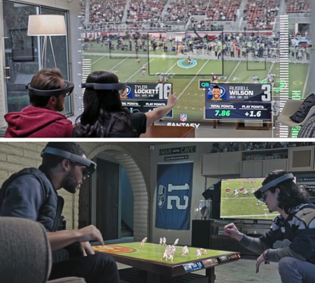 Así es como Microsoft quiere meterte el deporte en el salón: La Super Bowl y HoloLens hacen buen equipo