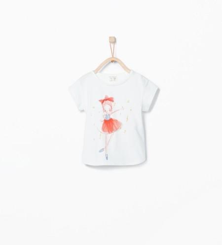 Camiseta Ballet Zara Kids