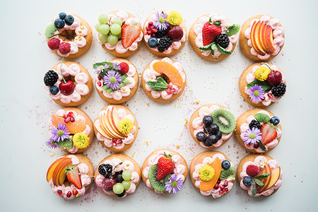 Tarta Decorada Con Frutas