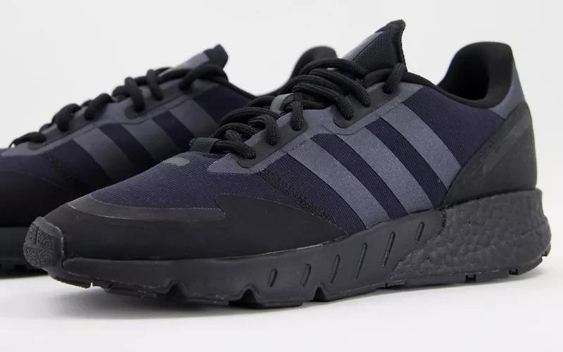 Zapatillas de deporte con diseño negro triple ZX 1K Boost de adidas Originals