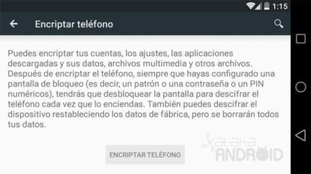 Encriptar Android