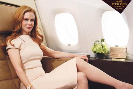 Nicole Kidman, nueva imagen de lujo de la línea aérea Etihad