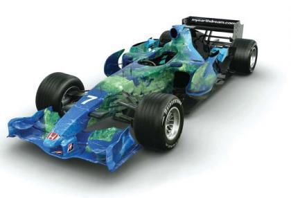 El primer coche de Fórmula 1 biodegradable