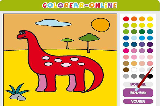 colorear online juegos educativos para ni os. Black Bedroom Furniture Sets. Home Design Ideas
