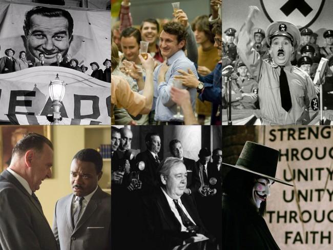 Imágenes de algunas destacadas películas de contenido político